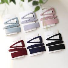 Korea Women Handcraft Headwear Pure Color Clips Hair Pins Hair Accessories