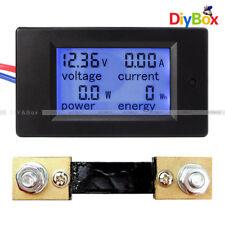 100A LCD Digital Volt Watt Current Power Meter Ammeter Voltmeter Meter+Shunt New