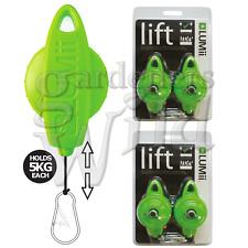Light Hanger LUMii lift ajustable à cliquet Hydroponique Grow Poulie Easi Roll facile