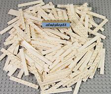 Lego - 1x8 Tiles White Finishing Plate - Smooth Thin Flat 4162 Floor Bulk Lot