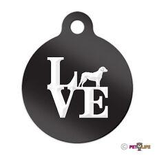 Love Chesapeake Bay Retriever Engraved Keychain Round Tag w/tab park chessie cbr