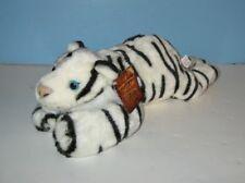 "New K&M Wild Republic 14"" White Tiger Bean Plush Pal"