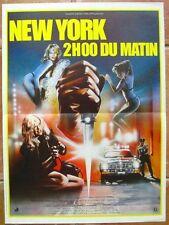 NEW YORK 2H00 DU MATIN (AFFICHE CINEMA 53x40) TOM BERANGER / MELANIE GRIFFITH
