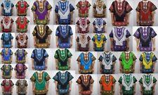 Mens Dashiki Shirts Vintage Hippie African Blouses Top Boho WHOLESALE LOT 4