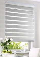 Doppelrollo mit Kasette Seitenzugrollo Blackwater Silber grau 45 - 180 cm breit