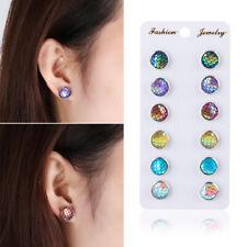 Natural Stone Horse Eye Ear Stud Quartz Ear Stud Durzy Earrings Amber Opal