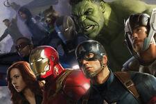 "Avenger Movie Hulk Iron man 24"" x 16"" Large Wall Poster Art Print Gift"