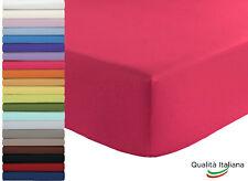 Joli Lenzuolo Sotto con Angoli Elastici 100% cotone - SINGOLO cm 90x210 H 25 cm