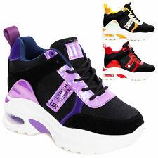 Scarpe donna stivaletti plateau sneakers tacco interno platform TOOCOOL AD-167