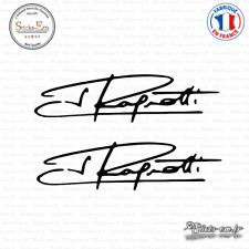 2 Stickers Signature Jean Ragnotti Decal Aufkleber Pegatinas S-002