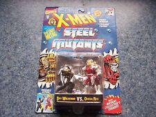 X-Men Steel Mutants Spy Wolverine Vs. Omega Red Toy Biz Poseable Action Figures