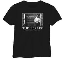 Cool Kids Library Barack Obama President Black T Shirt