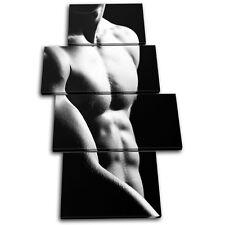 Sexy Male NUDES Erotic MULTI TOILE murale ART Photo Print