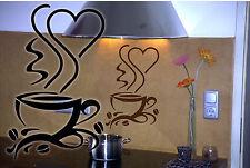 Taza de café murales kaffetime pegatinas pared decoración -