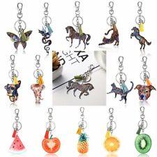 Pineapple Fruit Horse Dog Cat Animal Tassel KeyChain Keyring Handbag Accessories