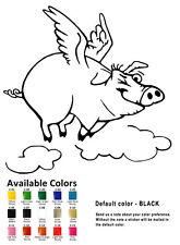 Funny Flying Pig Vinyl Decal Sticker Car Window Wall Piglets Animals Cartoon