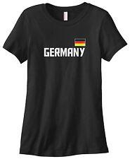 Threadrock Women's Germany National Team T-shirt German Deutschland