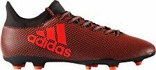 Adidas Men's X 17.4 FG Soccer Shoes S82365 Solar Red/Black Sz 8 - 11