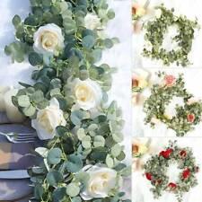 2m Artificial Silk Flower Rose Leaf Garland Hanging Ivy Christmas Garden Deor