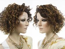 Medium Vivica Fox Wavy Curly Blonde Brunette Red Grey Wigs