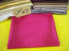 deep pink SATIN Fabric costume Curtain Material wedding party decoration fabric