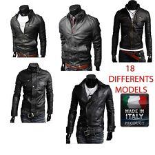 Men Leather Jacket Hommes veste en cuir Herren Lederjacke chaqueta de cuero