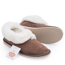 100% Sheepskin Slippers for Women! Wool insole + Rubber Sole. FREE UK Shipping!