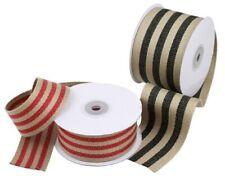 "1.5"" Faux Burlap Ribbon 10 Yard Roll - Choose Your Color"