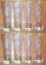 PERONI SIGNATURE TUMBLER 8 BEER PINT GLASSES NEW 41cl