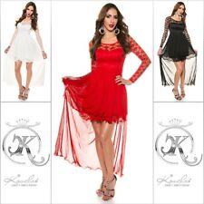 Koucla Kleid Minikleid Abendkleid Cocktailkleid mit Spitze