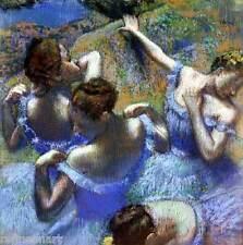 Blue Dancers, c.1899 - Edgar Degas Handmade Oil Painting repro