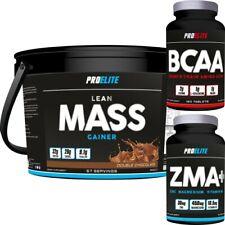 4kg AUMENTO DE PESO ProElite Lean Mass Ganar Proteína de suero + ZMA + BCAAs