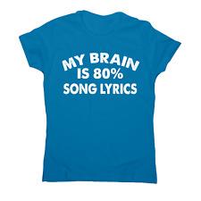 My brain is 80% funny music t-shirt women's