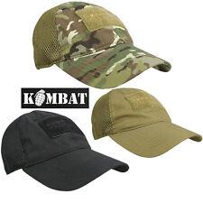 Los operadores de combate tácticas Malla Ventilado Gorra De Béisbol Sombrero Ejército ID Panel Airsoft