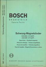 Bosch Ersatzteil-Liste Schwung-Magnetzünder MZ/URA 6/60
