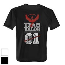 Team Valor Herren T-Shirt Fun Shirt Poke Go Game Wagemut Rot Red Vintage Style
