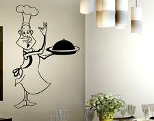 Wall Stickers Kitchen  Adesivi Murali Cucina Adesivo Cuoco Design in Cucina
