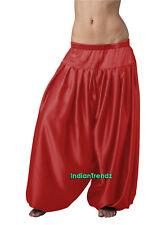 Red Satin Harem Yoga Pant Belly Dance Pantaloons Bombachos Aladdin Halloween