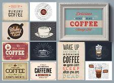 Retro Vintage Coffee Shop Posters For Kitchen - Restaurant Caffeine Art Quotes