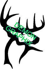 Buck outline vinyl decal/sticker archery hunting deer antlers horns