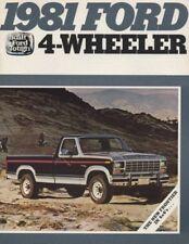 1981 Ford F-150 F-Series Pickup Truck Sales Brochure