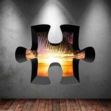 3d Rompecabezas a Todo Color Del Caribe Sunset Adhesivo de Pared
