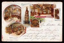 1899 multi-view bremen germany pioneer postcard