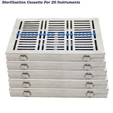 sterilizzazione CASSETTE PER 20,10, 7, 5 strumenti REMOVIBILI + SLIM scaffaltura