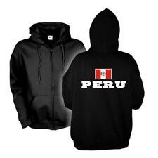 Kapuzenjacke PERU Flagshirt Zip Hoodie Fan Sweatjacke S-6XL (WMS02-47e)