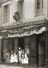 Photo ancien commerce Toulouse Restaurant Hôtel Central tirage repro an. 1920