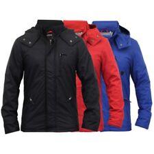 Mens Jacket Soul Star Coat Hooded Fleece Lined Zip Casual Fashion Winter New