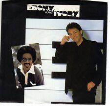 PAUL McCARTNEY Ebony & Ivory b/w Rain Clouds  P/S Duet w/ Stevie Wonder US Press