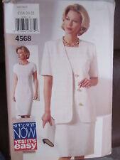 4568 Vintage Butterick SEWING Pattern Misses Jacket Dress UNCUT See & Sew OOP