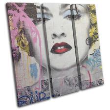 Graffiti Pop Madonna Banksy Street TREBLE DOEK WALL ART foto afdrukken